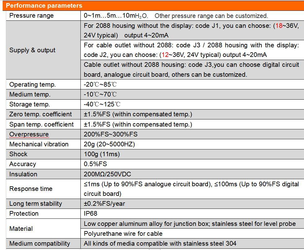 PCM260 liquid oil Level Transmitter